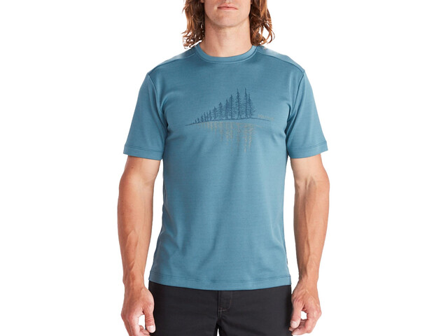 Marmot Hike Leisure SS Tee Men, cascade blue